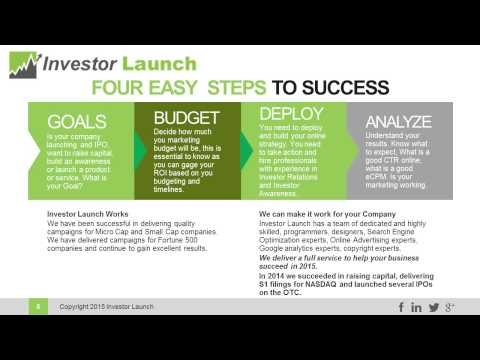 Investor Launch Investor Relations Presentation Draft 1