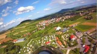 Luftvideo über den Hegau Familien Campingplatz