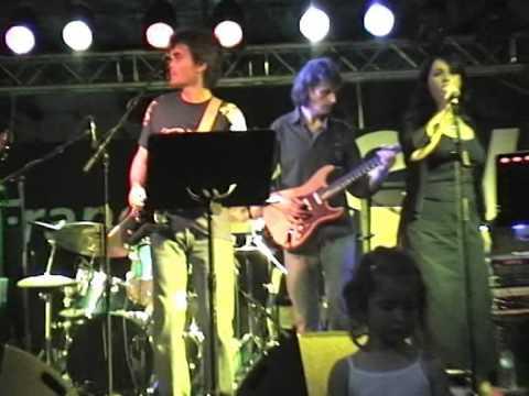 Alain Maratrat (guitarist ROCKETS) with SEVEN - Auxerre 21 june 2005
