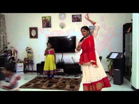 Azhage Azhage Saivam song cover Samiksha with Anusha Dancing