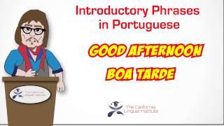 Online Portuguese Lessons via Skype - California Lingual Institute
