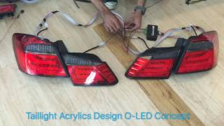 Accord g9 taillight led acrylics design