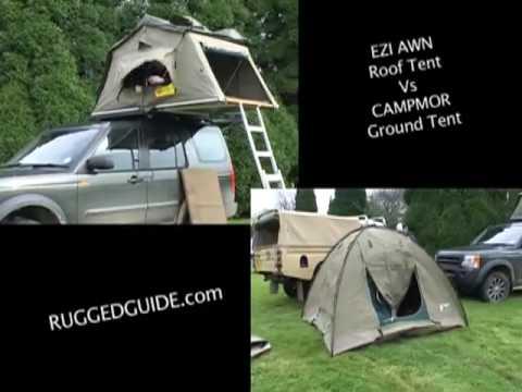 EeziAwn Roof Tent vs Campmor Ground Tent