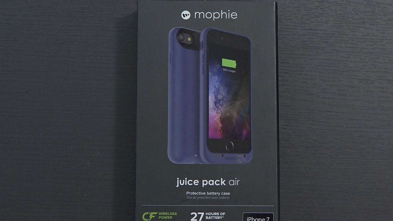 the latest 762b6 7ba9e Mophie Juice Pack Air for iPhone 7 Wireless Charging Battery Case