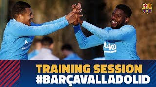 Umtiti is back with the group on their return to training