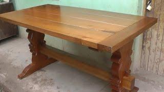 Madera patas de maciza de mesa