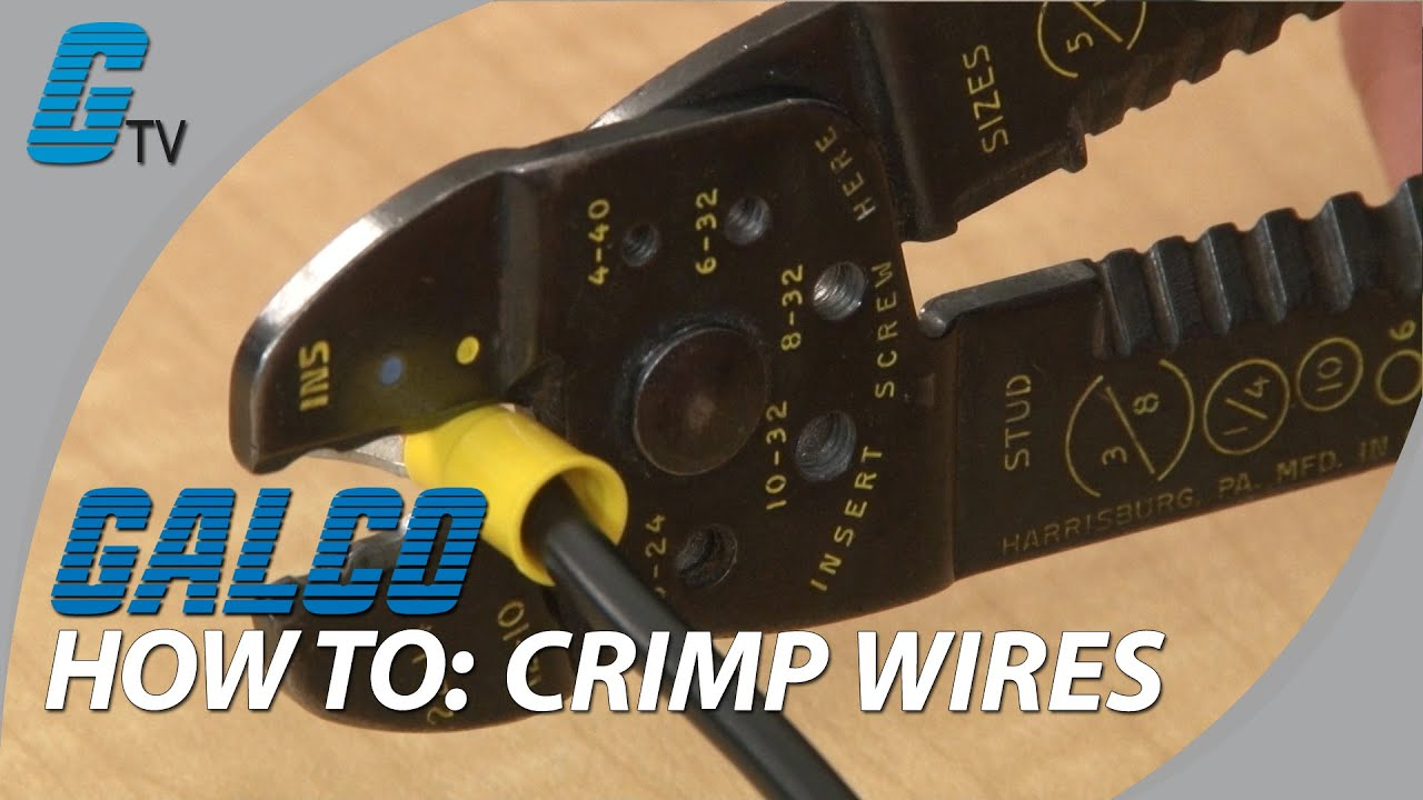 how to crimp wires basic tips on crimping youtube rh youtube com wiring crimping tool wiring clamps for junction boxes