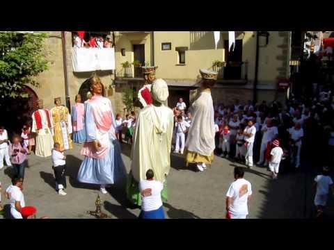 Jota Vieja de los Gigantes a San Sebastián, Fiestas de Sangüesa 2014