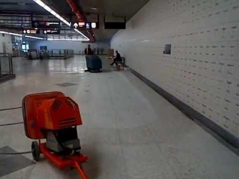 Terrazzo Restoration At Toronto Transit Subway With Werkmaster Colossos Scarab