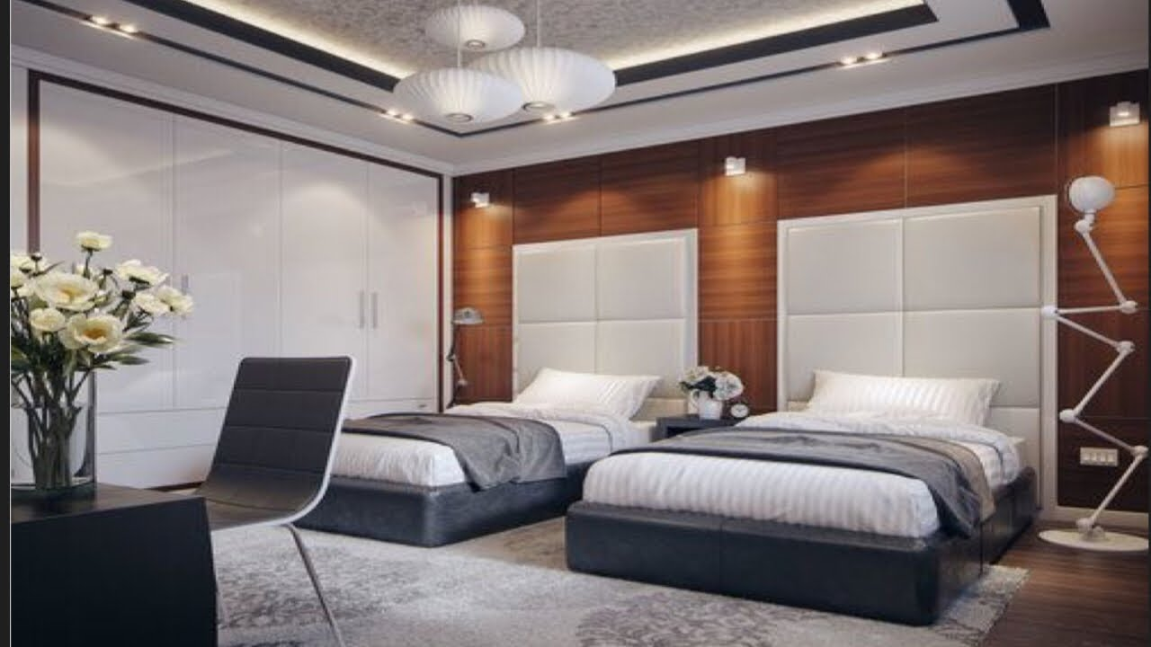 Awesome Twin Modern Bedroom Design Ideas With Double Bed For Boys And Girls Room Room Ideas Youtube