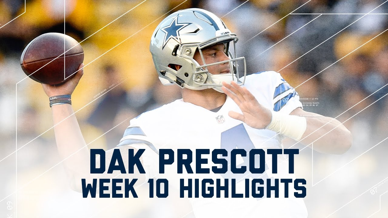 c2252e62 Dak Prescott Highlights from Career-High 319-Yard Game! | Cowboys vs.  Steelers | NFL Highlights - YouTube