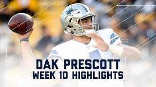 Dak Prescott Leads Cowboys to 8th Straight Win! | Cowboys vs. Steelers | NFL Wk 10 Player Highlights