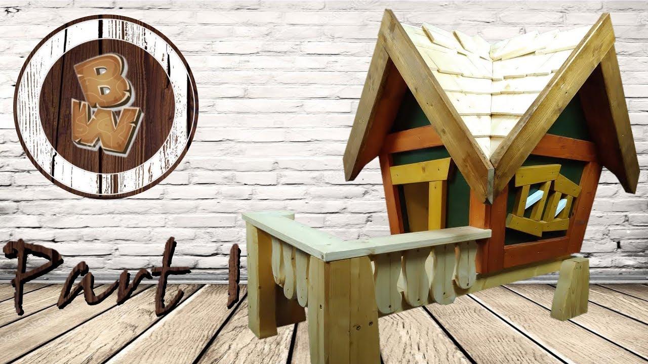 Diy How To Build A Luxus Doghouse Hundehutte Katzenhaus Selber Bauen