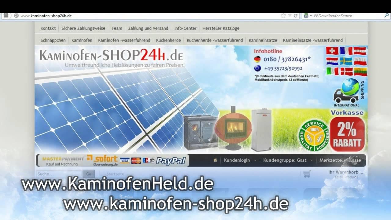 Eck-Kaminofen wasserführend LINESTOVES I200b - 14 kW - YouTube