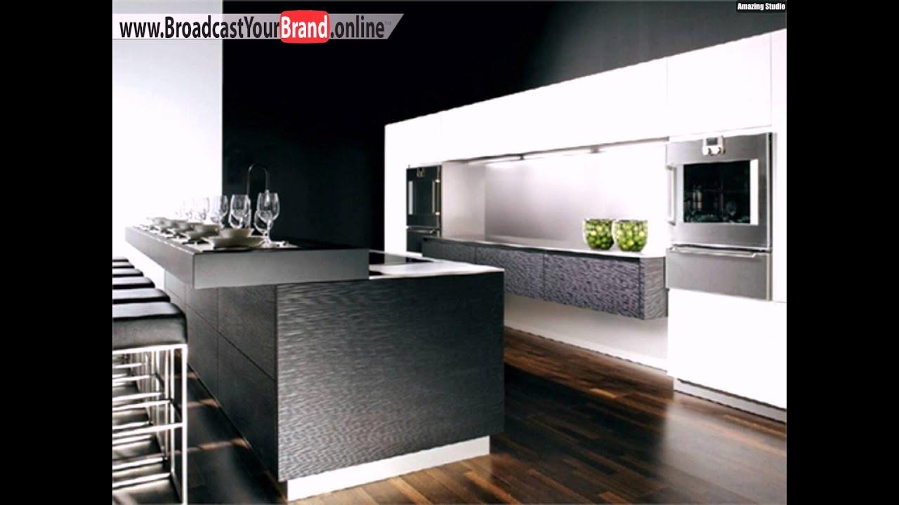 Schicke Küchen Bartheke Leder Barstühle - YouTube