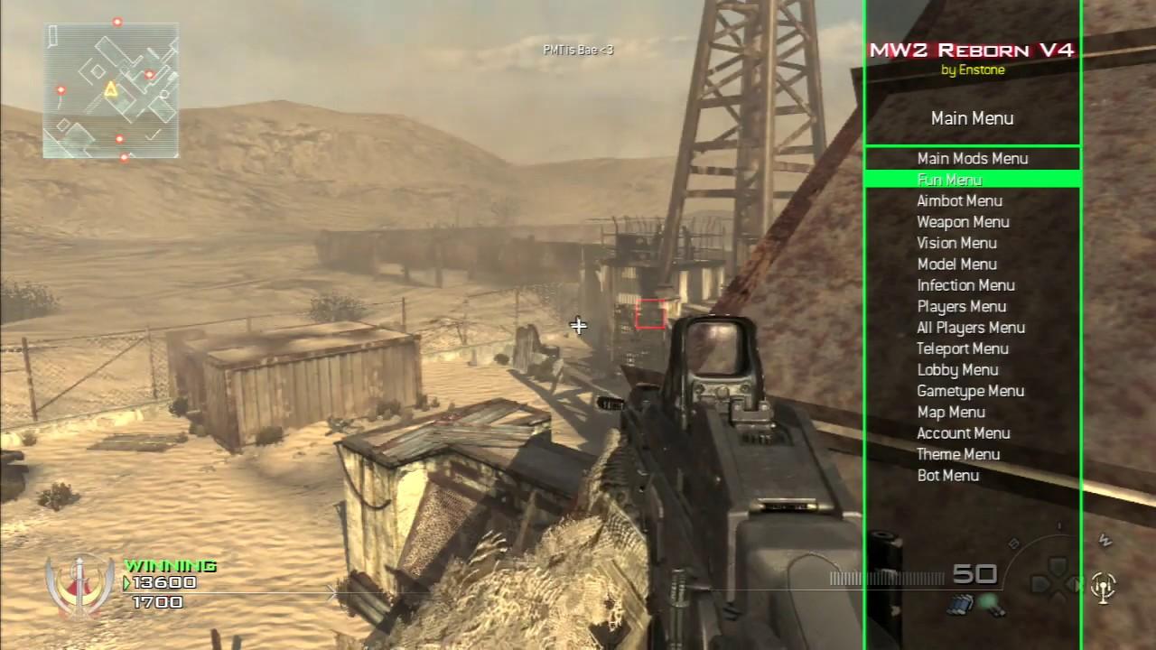 lol MW2 Reborn v4 SPRX Mod Menu! by PassiveModding