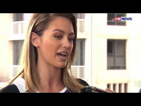 Buddy Franklin is doing well, says fiancee Jesinta Campbell-Video