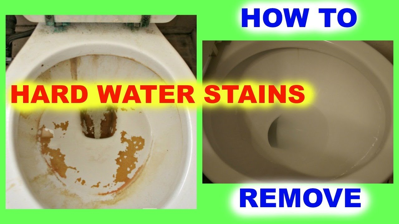 cheap living how to remove hard water stains from toilet bowls youtube. Black Bedroom Furniture Sets. Home Design Ideas