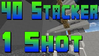 40 Stacker 1 Shot Tutorial Minecraft Cannons