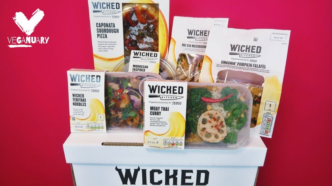 trying the new wicked kitchen range at tesco - Wicked Kitchen