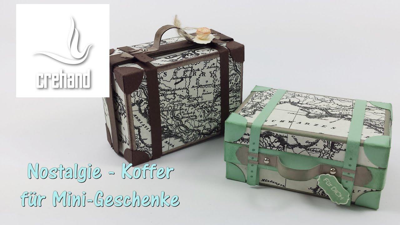 Nostalgischer reisekoffer als verpackung mit stampin 39 up for Carola henke