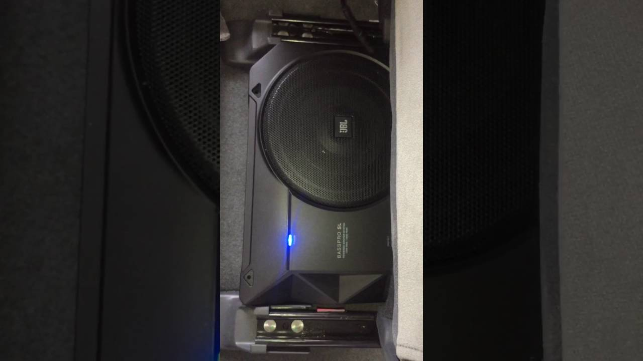 JBL BASS PRO SL - Underseat Subwoofer installed in Chevrolet Trailblazer LT MY 14 - YouTube
