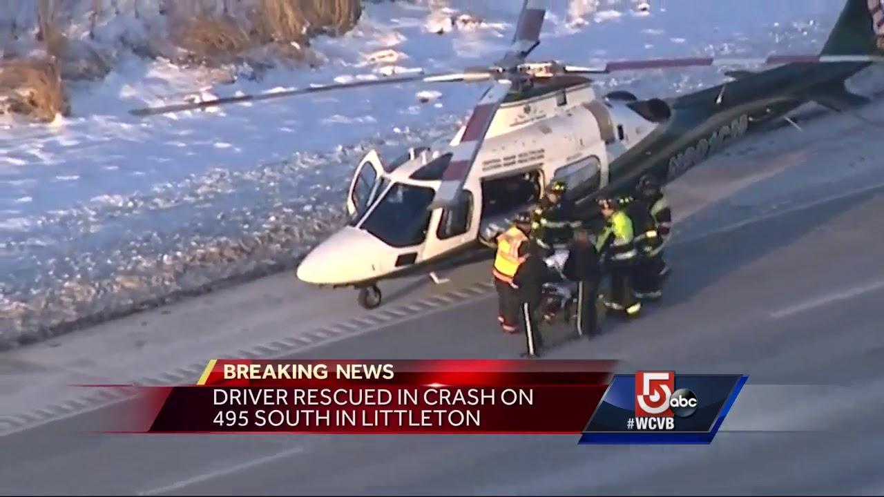 Driver rescued in crash on I-495 in Littleton