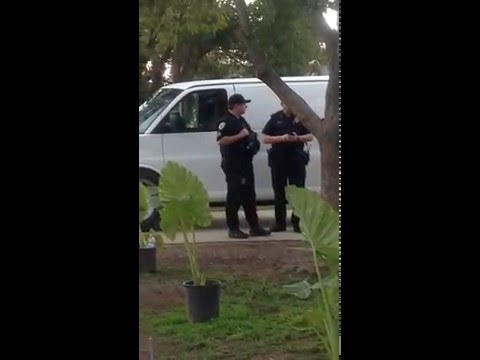 """Cocksuckers find Anything?"" ACTIVIST FILMS POLICE RAID. VISALIA, CA"