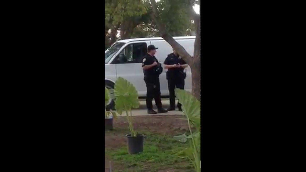 Activist Films Police Raid Visalia Ca Youtube