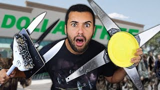 We Built DANGEROUS DIY Apocalypse Survival Weapons Using Only Things From DOLLAR TREE!!