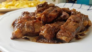 Costillas de cerdo en salsa de toma pan y moja !!!