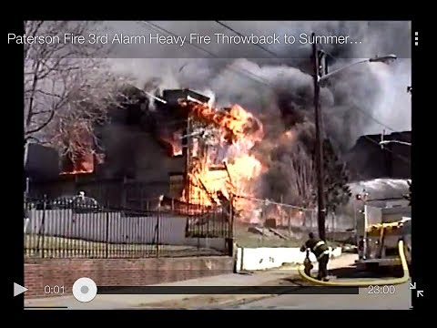 Paterson Fire 3rd Alarm Heavy Fire Throwback to Summer 2000 161 & 163 Hamilton Ave