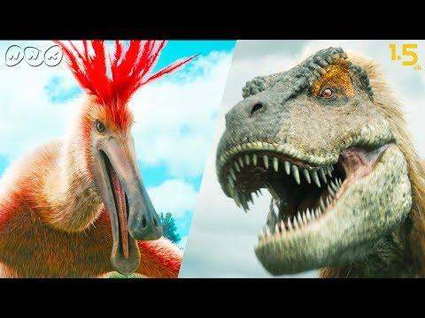 【恐竜CG】巨大羽毛恐竜・デイノケイルス vs. タルボサウルス!【NHKスペシャル