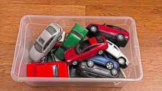 Box of Various Cars