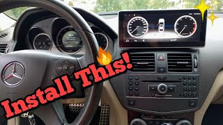 How To Install a TESLA Style, Factory Looking Screen w/ Android In Your Mercedes-Benz!