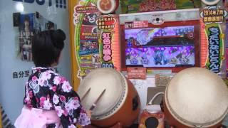 太鼓の達人キミドリver. 千本桜(裏)4倍 フルコンボ byみくぴ~ みくぴ 検索動画 11