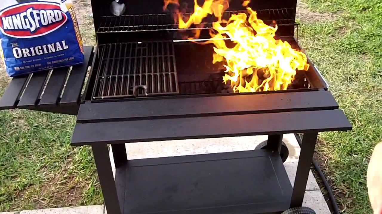 How To Light A BBQ Charcoal Barrel Grill   YouTube