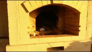 Барбекю с русской печью из кирпича, кладка своими руками.