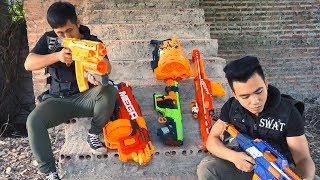 Nerf War Squad S.W.A.T  Nerf Gun Hunt Warrior Girl Who Stole Treasure Weapons Nerf Guns Action Movie