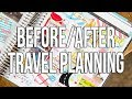 Before & After Travel Planning in My Erin Condren Life Planner