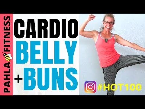 CARDIO BELLY + BUNS 8 Minute HIIT Workout...