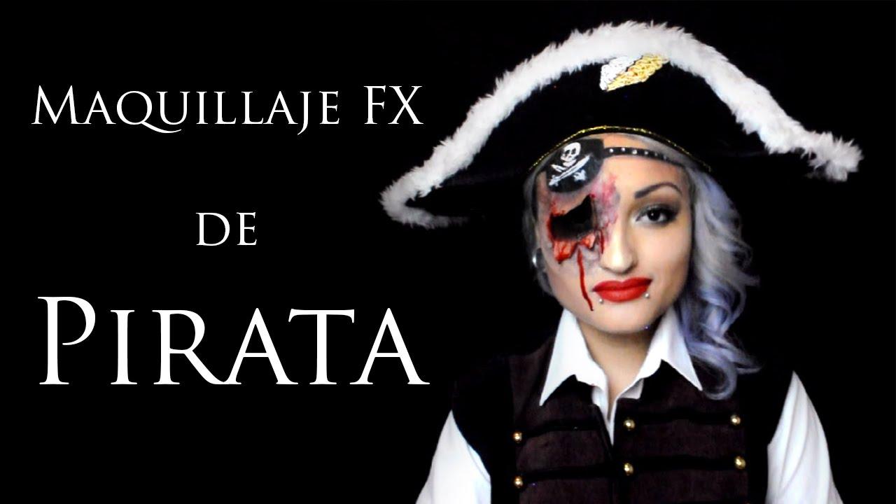 Maquillaje fx de pirata fx pirate makeup youtube - Maquillaje pirata nina ...
