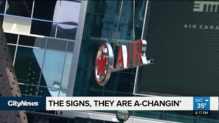 Air Canada Centre sign comes down ahead of name change