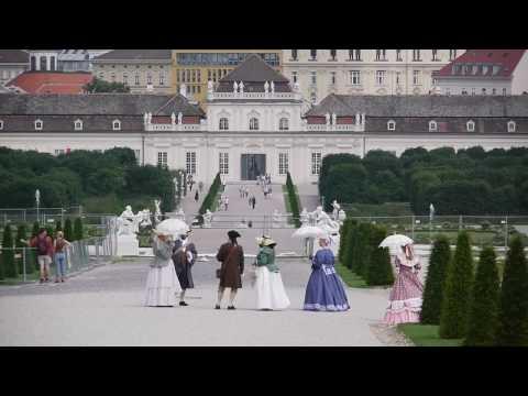 The castle Belvedere Wien/Austria, filmed with Lumix GH1