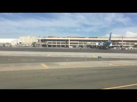 Funny Flight Attendant on Hawaiian Airlines! - HAL 767 Landing at Honolulu