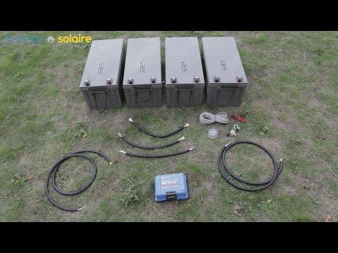 Montage d'un kit solaire 1000W - 48V/230V - avec 4 batteries 12V