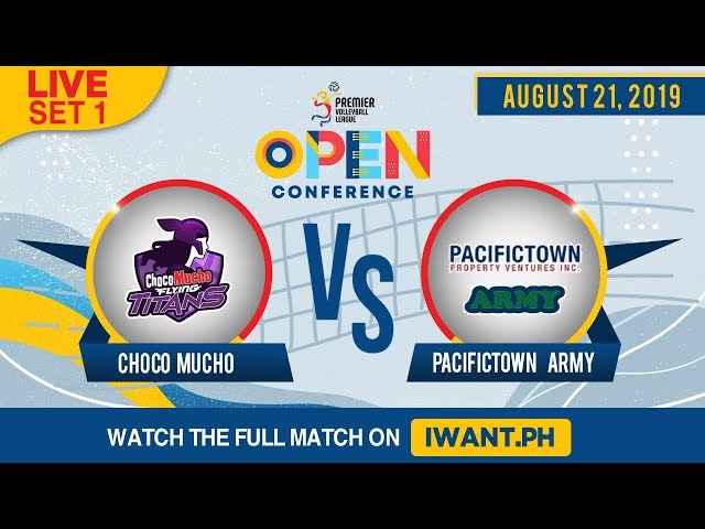 LIVE: SET 1 | Choco Mucho vs. PacificTown-Army | August 21, 2019(Watch the full game on iWant.ph)