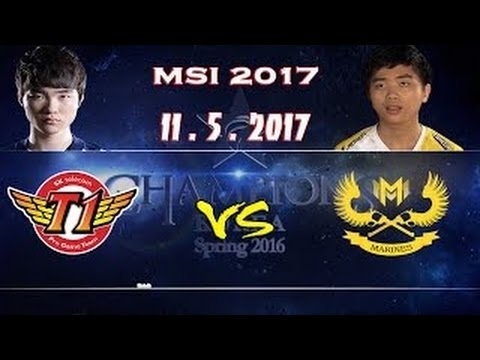 SKT vs GAM ( SK telecom T1 vs Gigabyte Marines ) 2017 MSI Group Stage