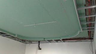 монтаж многоуровневого потолка. What is hidden inside the ceiling.(ещё одна функция гипсокартонных потолков, скрывать разного рода коммуникации : вентиляционные, электричес..., 2012-02-12T03:43:54.000Z)