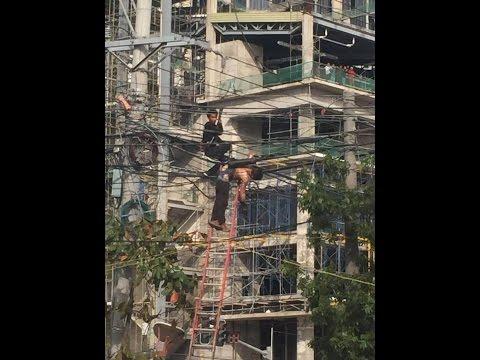 Actual Video: Globe contractor nakuryentehan